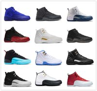2017 air rétro 12 XII chaussures de basket ovo blanc Grippe Jeux GS Barons loup gris Gym Red taxi playoffs gamma french blue Basketball chaussures 8-13