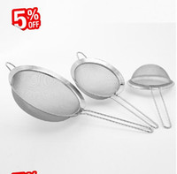 стальное сито оптовых-Wholesale- Fine Mesh Stainless Steel Strainers, stainless steel screen mesh oil strainer flour sieve Baking tools