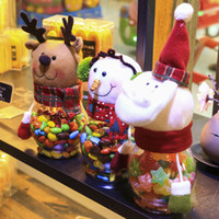 Wholesale Wholesale Decorative Containers - Christmas Snowman Plastic Candy Container Decorative Candy Jars Holiday Decor Christmas decorations for candy jar gifts IC549