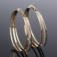Trendy Womens Hoop Ohrringe Gold Silber überzogen Multi Layer Matting Huggie Ohr Piercing Hoop Loop Ohrringe