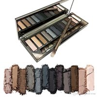 Wholesale Shadow Naked Makeup - In stock 2017 NAKED Skok Eye Shadow New Arrive High Quality HOT Sale Makeup NUDE Smoky Palette 12 Color Eyeshadow Palette Free Shipping