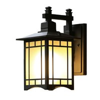Wholesale Garden Wall Sconces - Outdoor Lighting Aluminum Wall Lamp Waterproof Exterior Wall Lamps Garden Light Lamp Outdoor Porch Lights Lamp Outside Wall Sconce