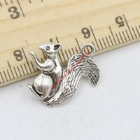 Wholesale Handmade Jewelry For Sale - Wholesale- 12pcs Hot Sale Squirrel Charms Antique Silver Pendants for Jewelry Making DIY Handmade Craft 20x21mm C223
