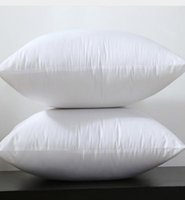 Wholesale 2016 Square White Peached Fabric Cushion Insert Decorative Pillows filling g