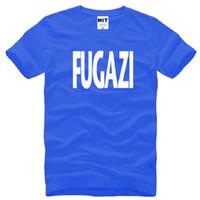 desenhos da camisa punk venda por atacado-Novo Design Fugazi T Shirts Homens de Algodão de Manga Curta HEAVY METAL PUNK POP T-Shirt dos homens de Verão Estilo Masculino Música Rock Band Top Tees