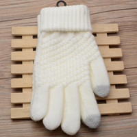 Wholesale Wholesale Fingerless Magic Gloves - Wholesale- Touch Screen Magic Gloves Unisex Male Female Stretch Knitted Gloves Mittens Hot Warm Accessories Xmas Gift