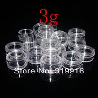 Wholesale Glitter Crafts - high quality 3g X 100 Empty Clear Plastic Jars Pots containers For Nail Art Make Up Cosmetic Craft Glitter ,small sample bottles