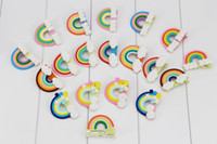 Wholesale Wholesale Cabochons For Hair Bows - NEW ARRIVAL 12 colors Kawaii Spiral Rainbow hairpin Candy Polymer Clay Cabochons hair bow Flatback For DIY Accessories.50pcs\