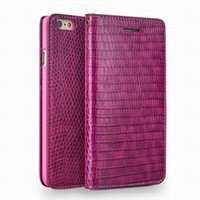Wholesale Iphone Crocodile Leather - Crocodile pattern lady handmade flip leather case for iPhone 6 6S plus HOT PINK Card Holder Cover 4.7 5.5 inch