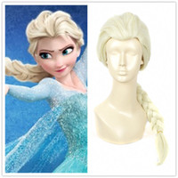 Wholesale Blonde Wig Pigtails Cosplay - Frozen Princess Elsa Cosplay Wig Wigs Long pigtail Braids white blonde hair