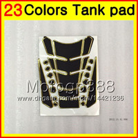yamaha tapa de gas al por mayor-23Colors 3D Protector de almohadilla del tanque de gas de fibra de carbono para YAMAHA YZF600R 1996 1997 1998 1999 00 YZF 600R 2002 2003 2004 2007 3D Etiqueta engomada de la tapa del tanque