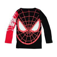 Wholesale T Shirts Boys Spiderman - Autumn Winter Cotton Kids T Shirt Spiderman Long Sleeve Baby Boys Girls T-Shirt Children Pullovers Tee Boys Clothes