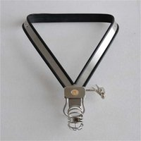Wholesale Model Y Chastity - Summer version Classic Male Adjustable Model-Y Y-type stainless steel chastity belt adults sex toys for men bondage