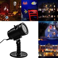 Wholesale Christmas Projector Led Lights - New 14 Pattern LED Projector Light Waterproof Landscape Lighting Indoor Wall Spotlight Laser Projection Lamp Halloween Christmas Fairy Light