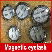 Wholesale Wholesale Plastic Strips - Magnetic Eye Lashes 3D False Magnet Eyelashes Extension 3D Fake Eyelashes magnetic eyelashes 4pcs=1pair with retail package