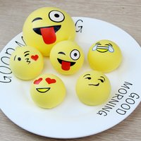 Cheap Emoji Squishy squishies 7cm 4cm Jumbo Bread Cake Squeeze Emoção Slow Rising Stretchy Charm Cute Pendant Kid Toy Gift Strap 1659