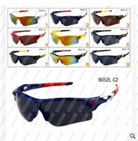 Wholesale News Fashion Designers - Wholesale - Travel Accessories brand designer News oculos de sol Men Women Fashion Eyewear Sports outdoor cycling Sunglasses Gafas 9052