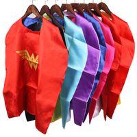Wholesale Tv Sizes Cm - Gold Hands Children's Fashion Superhero Capes - 70*70 CM Double Side Cape and Mask Superhero Spiderman Kids Party Dress Clothing