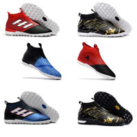 Wholesale Dragon Spring - 2017 Fishion Laceless ACE 17+ PureControl FG Dragon Soccer Shoes 17.1 Outdoor Football boots ACE Tango 17+ Purecontrol TF IN Soccer Cleats