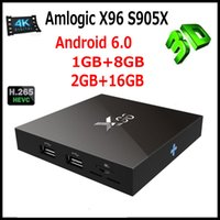 Wholesale Marshmallow Wholesale - Genuine X96 Smart Android TV Box Amlogic S905X Quad Core Marshmallow 4K Android 6.0 Marshmallow RAM 1G 8G 2G 16G WIFI Wifi HDMI 0803070