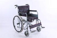 Wholesale Steel Wheelchair - KPL steel frame self propelled medical manual wheelchair with brake and toilet in disabled health care appliance E7831