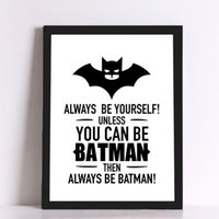 Wholesale Wall Quote Life - ART Oil Painting Batman Picture Quote Canvas Art Print Poster, Wall Pictures for Home Decoration, Frame not include
