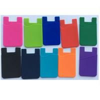 Wholesale Gift Card Sticker - Promotional gift 3M sticker silcone smart pouch   wallet,3m sticker credit card holder,card holder for all smart phone