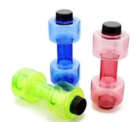 Eco-Friendly sports direct dumbbells - 550ml Convenient Sport Bottle Dumbbell Fitness Equipment Shape Kettle Space Cup Fruit Juice Bottle Sport Water Bottle LLFA