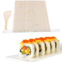 NOVO Sushi Rolling Mat Sushi Japonês Sushi Mold Pad Com Spoon Arroz Ball Rolling Tool Com Arroz Paddle Set MYY