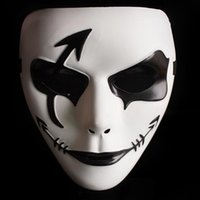 painting steps - Halloween Mask Hot Sale Hand painted Masks Hip hop White Mask Dance Step Ghost Halloween Party