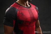 Wholesale Superman Lycra Tops - Fun Deadpool Shirt Tee 3D Printed T-shirts Men Fitness Gym Clothing Male Tops Funny T Shirt Superman Deadpool Costume Display