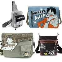Wholesale Anime Cosplay Characters - Wholesale- Anime One Piece Sling Pack Canvas Character Handbag Messenger Shoulder Bag Sling Bag Cosplay