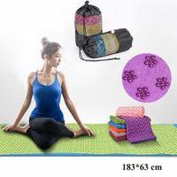 Wholesale Anti Skid Pvc - Wholesale-183 * 63cm Thicker Longer Anti Skid Yoga Mat Yoga Shop Towels Pilates Blankets Yoga Mat Fitness Blanket