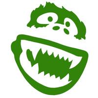 Wholesale Laugh Decor - Yeti Abominable Snowman Gorilla Funny Laughing Car Sticker for Window Bumper Laptop Kayak Vinyl Car Home Decor
