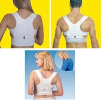 novo cinto de suporte traseiro venda por atacado-1 Pc / lote Nova Terapia Magnética Postura de Volta Ombro Corrector Suporte Shoulder Brace Belt Para Mulheres Dos Homens