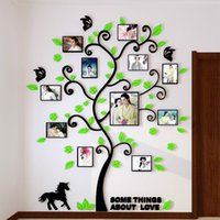 Wholesale Frames Decorative - Pictures Decor Frame Stickers 3D Wall Stickers Creative Style Design Wall Stickers Decorative Acrylic Decoration