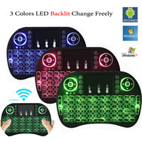 Wholesale Mini Touch Pad Keyboard - Colorful Backlight i8 + Mini Keyboard Wireless Gaming Keyboards Air Mouse Remote Control for PC Pad Google Andriod TV Box Xbox360 PS3 OTG