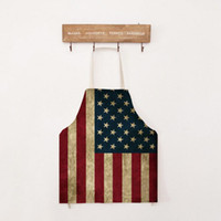 Wholesale Wholesale Aprons For Women - Sexy Novelty Adult Vintage Kitchen Cooking Apron Muscle National Flag Pattern for Men Women Gifts 56*68cm