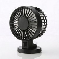 Wholesale Usb Portable Computer Table Fan - Dual fan leaf Super Mute PC USB Cooler Cooling Portable Desk Mini Fan for Notebook Laptop Computer With key switch Rechargerable Kids Table