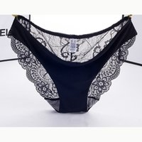Wholesale Newest Hot Lady Bikini - Women's Sexy Lace Panties Hot Newest Ladies Seamless Briefs Lingerie Cotton Soft Underwear Knickers Transparent Intimates