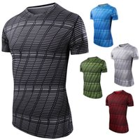 Wholesale United Fitness - Europe and the United States new men short-sleeved t-shirt running fitness clothing