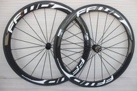 Wholesale Cycling Road Wheels Carbon - Hot sale 50mm carbon road bike wheels clincher bicycle road bike wheelset white cycling wheels 700c free shipping