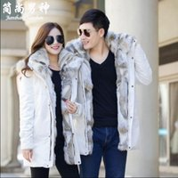 Men otter fur - Hooded jacket winter jacket men s clothing otter fur coats male long fur collars high end luxury female with thick winter coat