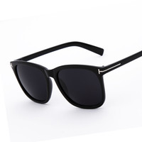 Wholesale Oversized Accessories - Wholesale- Classic Square Sunglasses Men Brand Oversized Acetate Frame Coating Mirror Lens Metal T Accessories Fashion Man Women Sunglasses