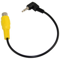 Black AV-in Video Cable 1 metro 2,5 mm Jack macho macho Plug para RCA Adaptador fêmea para GPS Converter