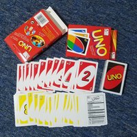 Wholesale Big Funny Cards - Stock hight quality UNO poker card standard edition family fun entertainment board game Kids funny Puzzle game DHL FREE SHIPPING