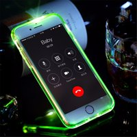 Wholesale Tube Light Fittings - Led Flash Phone Case for iPhone 6 6 plus fashional Light Flash Calling notice Tube series phone case for iPhone 7 cover
