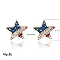 Wholesale Usa Flag Watch - New watch USA flag Five-pointed star 18MM new snap silver fit DIY new snap jewelry wholesale