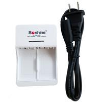 Wholesale 9v Battery Charger Eu - Hot Sale Soshine V1 9V Li-ion Ni-MH Battery Charger with 2 Slot Input AC 90-260V 50 60Hz EU US Plug
