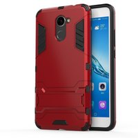 Dolmobile Dual Layer Hybrid Tough Rugged Armour Case pour Huawei Enjoy 7 Plus TRT-AL00A 5 pouces Phone Kick Stand Back Cover PC + TPU 100pcs